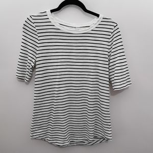 Banana Republic Malibu Tee T-Shirt Black/White